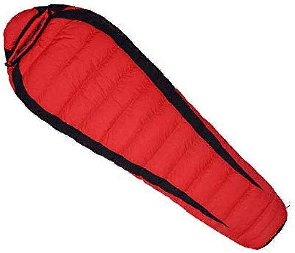 HAO XIAN SHENG Sac de Couchage Momie Remplissage en Spirale Technique pour des Nuits Bien Plus Chaudes Dormir - Idéal pour Le Camping,rouge,800g