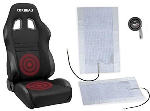 KBD Premium Seat Heater Kit High/Low Switch Settings Faster Warm Up (1 seat)