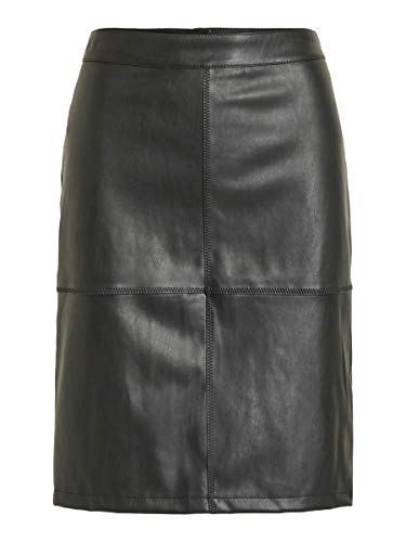 Vila Clothes Vipen New Skirt-Noos Falda, Negro (Black), 36 (Talla del Fabricante: Small) para Mujer