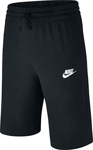 NIKE B NSW JSY AA Pantalones Cortos de Deporte, Niños, Black/(White), XL