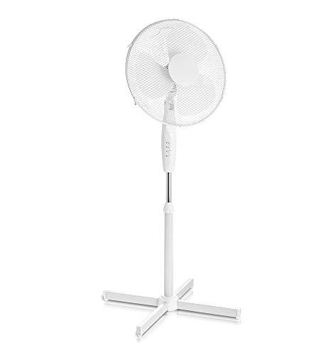YLOVOW Elettrico 16' Pedestal Fan - Potente Free Standing Oscillante Ed Inclinazione Regolabile in Altezza Stand - 3 Impostazioni di velocità, modalità di Oscillazione