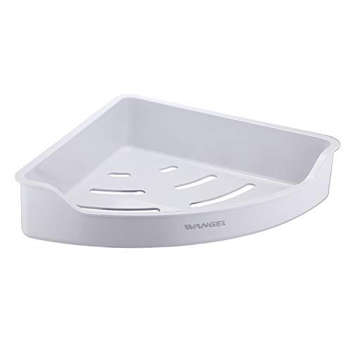 Wangel Eckablage Duschkorb Duschablagen ohne Bohren für Bad, Klebestreifen Pads Starke Montage-Klebeband transparent, ABS-Kunststoff