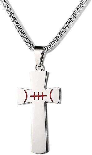 Collar Collar de fútbol Inspirador para Hombre Puedo Hacer Cualquier Cosa Cruz Versículo de la Biblia Colgante de Acero Inoxidable Collar con Colgante Regalo para Mujeres Hombres Niñas Niños