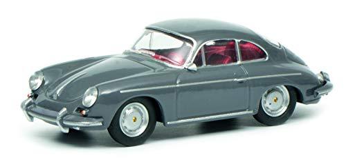 Schuco 452017900 Porsche 356 - Modellino di Veicolo, Scala 1:64, 452017900, Colore: Grigio