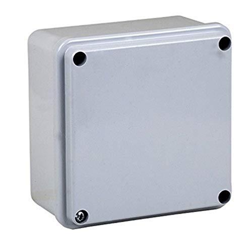 Electraline 60557 Cassetta di Derivazione da Parete, Misura 100x100 mm, IP56, Grigio