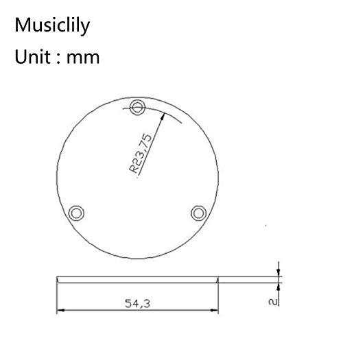 Musiclily Pro Zurdos LP Cubierta y Placa para Interruptor de Palanca China Made Epiphone Les Paul Standard,1 Capa Negro