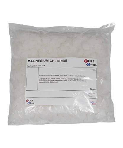 Magnesium Chloride Flakes Dead Sea Salts | 100% Pure | Bath Soak (1 KG)