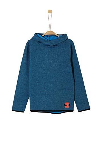 s.Oliver Jungen 62.911.41.2715 Sweatshirt, Blau (Blue Melange 55s6), 152 (Herstellergröße: M/REG)