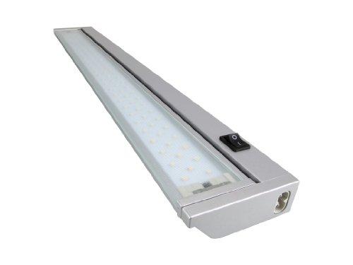 Rolux LED Unterbauleuchte 9W / warmweiß / 913mm lang, Aluminium, 9 W, Silber