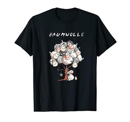 Baumwolle Schaf T Shirt I Wortspiel Funshirt Damen Kinder