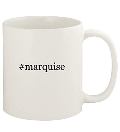 #marquise - 11oz Hashtag Ceramic White Coffee Mug Cup, White