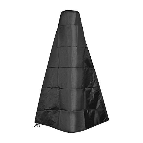 Yungli 1,2 m hohe schwarze Kaminabdeckung Terrassenheizung Abdeckung Outdoor wasserdicht strapazierfähig Gartenheizung Regen Sonne UV-Schutz Abdeckung