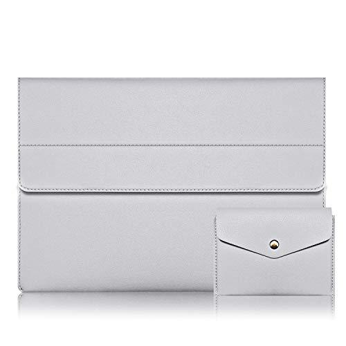 Alfheim 13-13,3 Zoll Leder Laptop-Hülle,Wasserdicht & Schlanke Notebook-Schutzhülle,Magnetische synthetische Aktentasche mit Kleiner Tasche für MacBook Pro/MacBook Air/Surface/Dell/Huawei