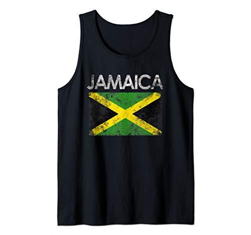 Vintage Jamaica Jamaican Flag Pride Gift Tank Top
