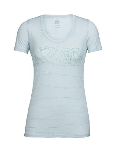 Icebreaker Tech Lite - Camiseta de Manga Corta para Mujer, Mujer, Primeras Capas, 104160401L, Rocío, Large