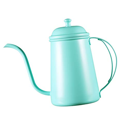 H HILABEE Long Narrow Spout Pot Hand Pour Over Drip Filter Coffee Maker Green