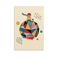 ロンリープラネットかわいい漫画動物ポスター装飾画キャンバスウォールアートリビングルームポスター寝室寮プリント絵画20x30inch(50x75cm)