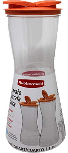 Rubbermaid Carafe with Leak-Proof Lid, 2-Quart Coral