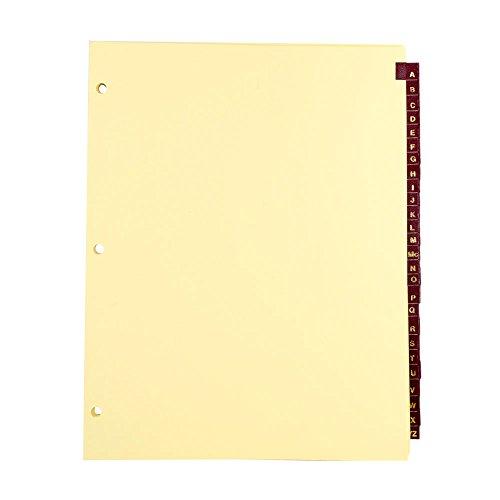 BlumbergゴールドLettered Leatheretteインデックスタブディバイダー、部単位のセット26文字A - Z、レターサイズ、サイドタブ付き、3穴パンチ 10 sets