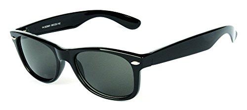 Braunwarth Aktuelle Kunsstoff-Sonnenbrille im Wayfarer Look mit Metallapplikation