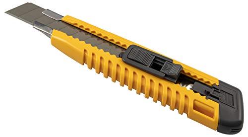 Gedotec Profi-Cuttermesser 18 mm Teppichmesser Metall-Führung LC-405 | Klinge entwickelt für maximale Schärfe | KDS - Made IN Japan | 1 Stück - Handmesser universal inkl. 2 Stück Cutter-Klingen