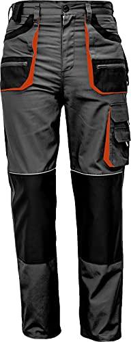 Stenso Des-Emerton - Pantalones de Trabajo para Hombre Slim fit - Gris/Negro/Naranja - 48
