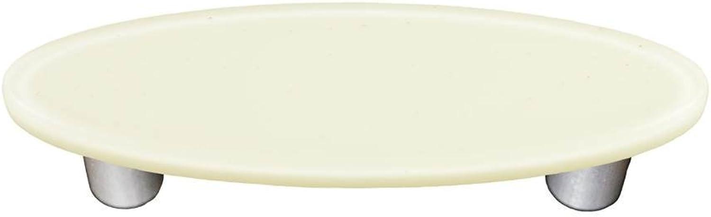 Oval Pull in White (Aluminum)
