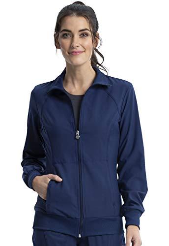 Cherokee Women's Infinity Zip Front Warm-Up Jacket, Navy, Medium