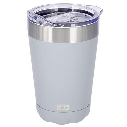 Xavax Isolierbecher 270ml (Kaffeebecher to go, Thermobecher für Büro, Travel Mug, Trink-Becher) blau