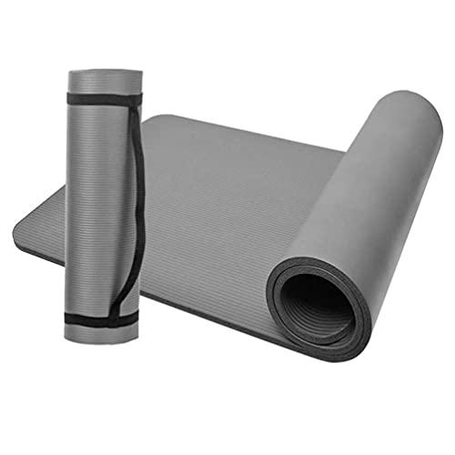 D-Work - Tappetino da pavimento per ginnastica, fitness, yoga, misure: 183 x 61 x 1 cm, in NBR, colore: grigio