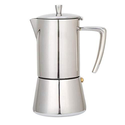 Jarras Café Accesorio Cafetera Mocha Espresso Latte Percolador Estufa Cafetera Olla Percolador Herramienta De Bebida Cafetera Latte Estufa, Negro