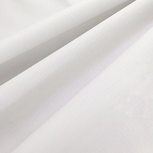 emma kites 40D リップストップ ナイロン生地 ファブリック 150cm巾 5M カット ホワイト 薄手 無地 撥水生地 UV処理 アウトドア カイト ハンモック テント スタッフバッグ エコバッグ 手作り生地