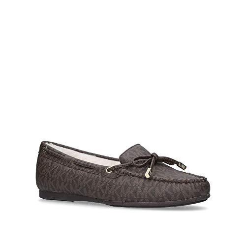 Michael Kors Sutton Moc Mini MK Logo Loafers, Braun - braun - Größe: 39 EU