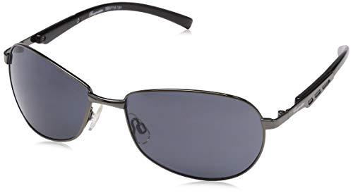 Klassische Marken Sonnenbrille für Herren von Burgmeister mit 100% UV Schutz | Sonnenbrille mit stabiler Metallfassung, hochwertigem Brillenetui, Brillenbeutel und 2 Jahren Garantie | SBM114-181