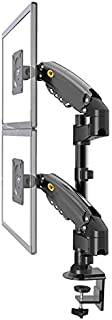 New NB H160 Dual Monitor Desk Mount Stand Full Motion Swivel Monitor Arm Gas Spring for 17''- 27'' Computer Monitor from 2...