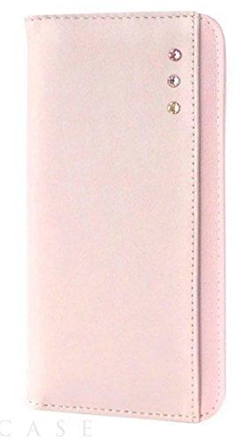 [iPhone6/6s スマホ ケース] 手帳型 カードポケット スタンド機能 付き アイフォン カバー (デコ/ピンク)
