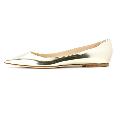 elashe - Scarpe da Donna - Ballerine - Ballerine Donna - Classic Flats Oro EU43