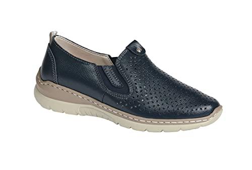 Victoria Schwarzer Zapatos de mujer cómodos para el tiempo libre con zapatillas extraíbles, color Azul, talla 40 EU