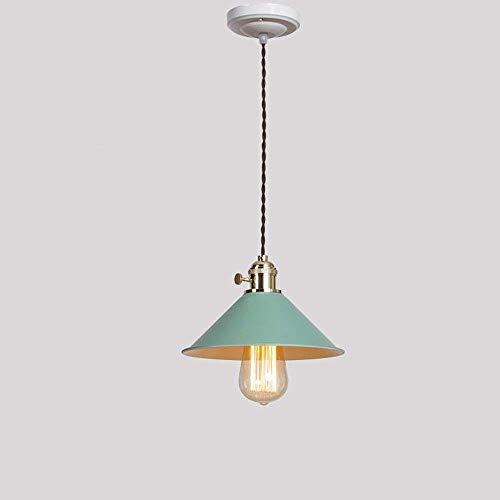 on. Gzz Deng Home buitenverlichting hanglamp kroonluchter plafondlamp schaduw Europese stijl creatieve retro restaurant bar groene LED warm licht 4 Watt 20X14Cm