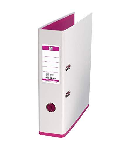Elba archivador mycolour.lomo 80mm.rado+ollao+tarjetero.formato a4. color blanco/rosa.