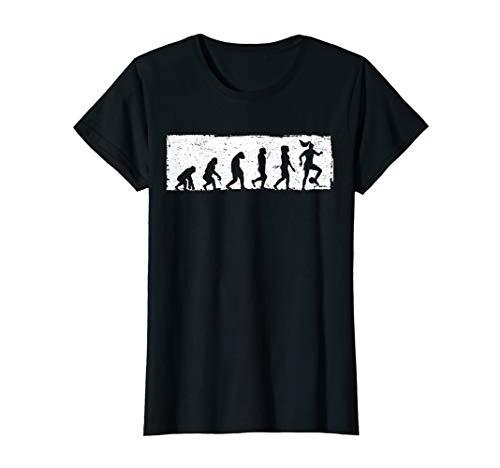 Evolution Frauenfußball Fußballerin Damen Mädchen Geschenk T-Shirt