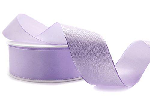 Nastro decorativo in tessuto color lilla, lavanda, 50 m x 4 cm, colore pastello, 40 mm, decorazione da tavolo, per matrimonio, per creazione di biglietti fai da te