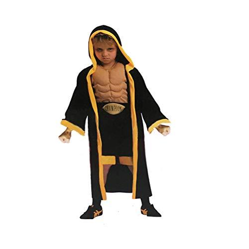 QLGRXWL Disfraz de Boxeador con Capucha para niño Disfraz de Boxeador Beat de Halloween,Negro,S