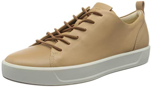 ECCO womens Soft 8 Dri-tan Luxe Sneaker, Latte, 7-7.5 US