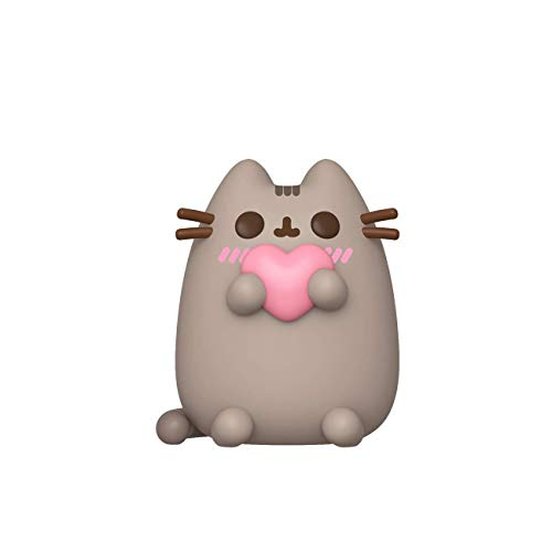 Funko- Pop Pusheen w/Heart Figura Coleccionable, Multicolor (44529)