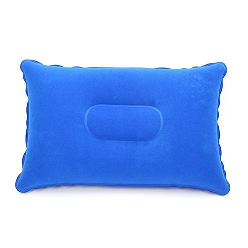 SONG Almohadas inflables de PVC de 2 unids, Almohadas de Cuello de Camping Almohadas de Soporte de Cuello portátil para Viajes al Aire Libre (Color : A)