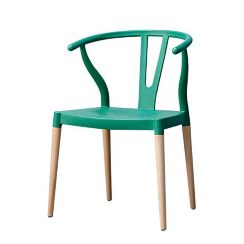 CL- Horn Chair - Moderner minimalistischer Esszimmerstuhl Massivholzstuhl - Multi-Color optional (Größe: 52X45X76cm) (Farbe : Green)