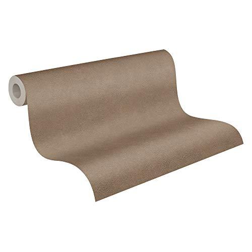 A.S. Creation - Carta da parati a tinta unita Cappuccino,colore: marrone, in tessuto non tessuto