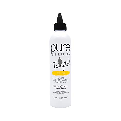 Pure Blends Tempted Intense Color Depositing Conditioner - Yellow (Vibrant Yellow Tones) 8.5 Ounce