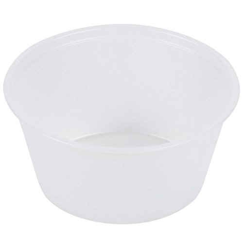 A World of Deals Plastic Souffle Portion Cups, 2 oz, Translucent, 250 per Bag